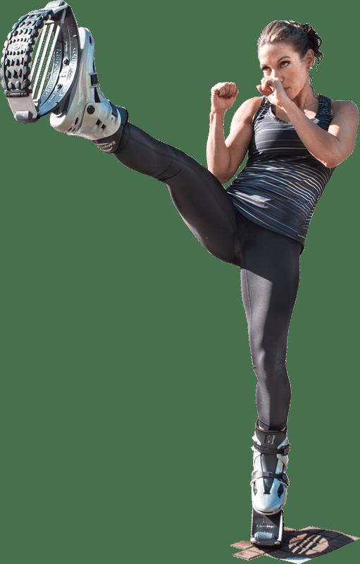 Niño deportista Kangoo Jumps